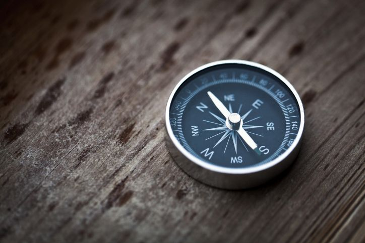 Compass that represents Francis Investment Counsel's collaborative and purposeful work ethic